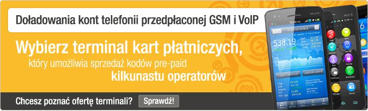 Do�adowania kont telefonii przed�aconej GSM i VoIP